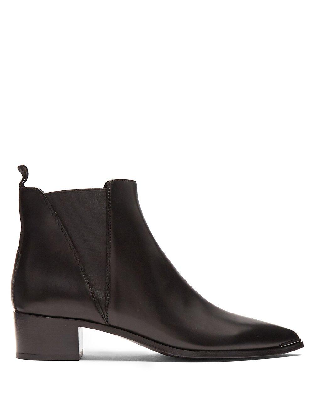 Flat Black Boots