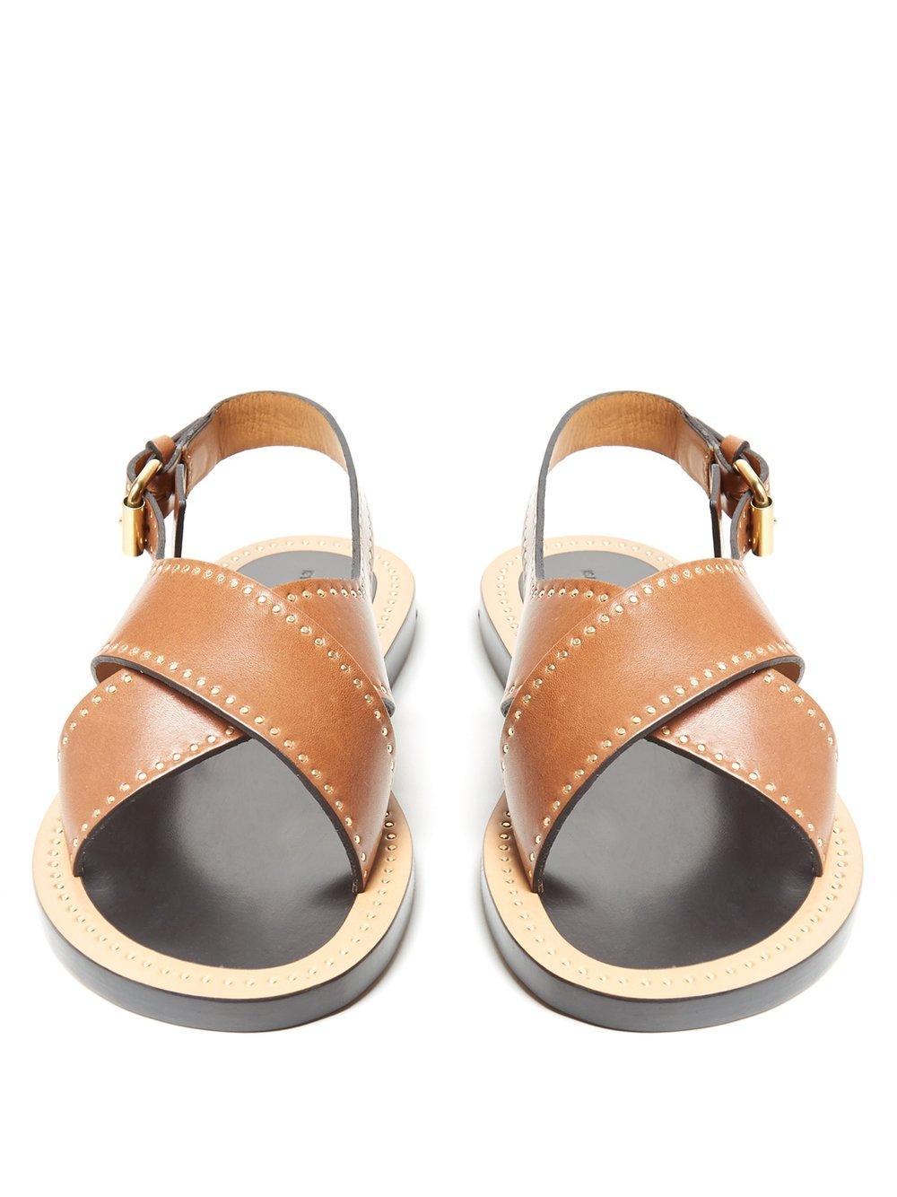 Tan Flat Sandal