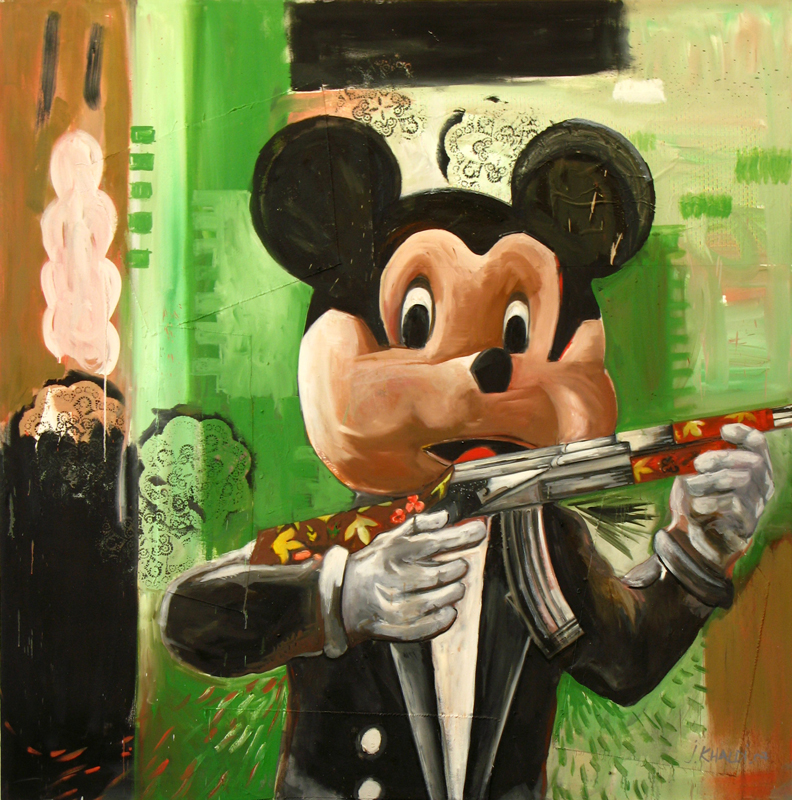 Hammas Mickey  (2007)  Oil on canvas  206 * 209 cm
