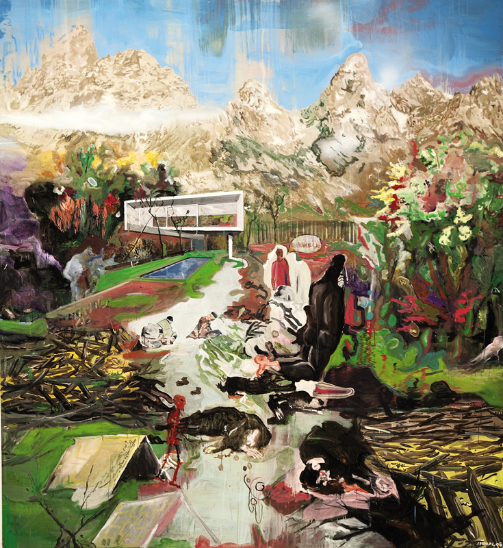 Go Where  (2008)  Oil on canvas  240 * 220 cm