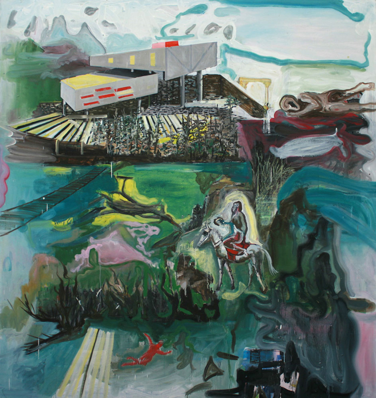 Promised Land  (2008-09)  Oil on canvas  220 * 200 cm