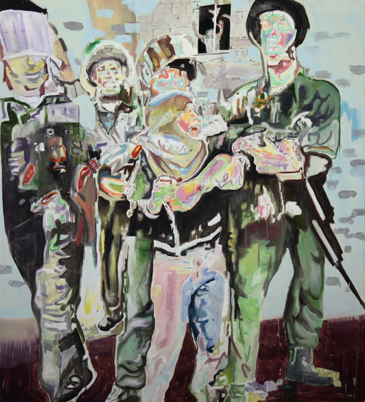 F*** Them and Their Moses  (2009)  Oil on canvas  220 * 200 cm