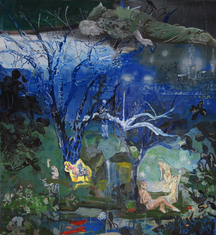 Happy Ending 1  (2009)  Oil on canvas  240 * 220 cm