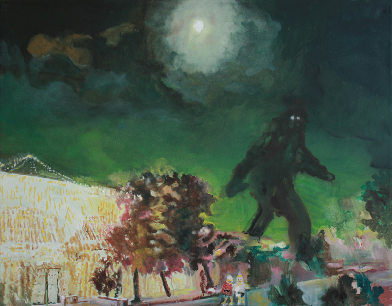 Big Foot  (2009)  Oil on canvas  105 * 135 cm