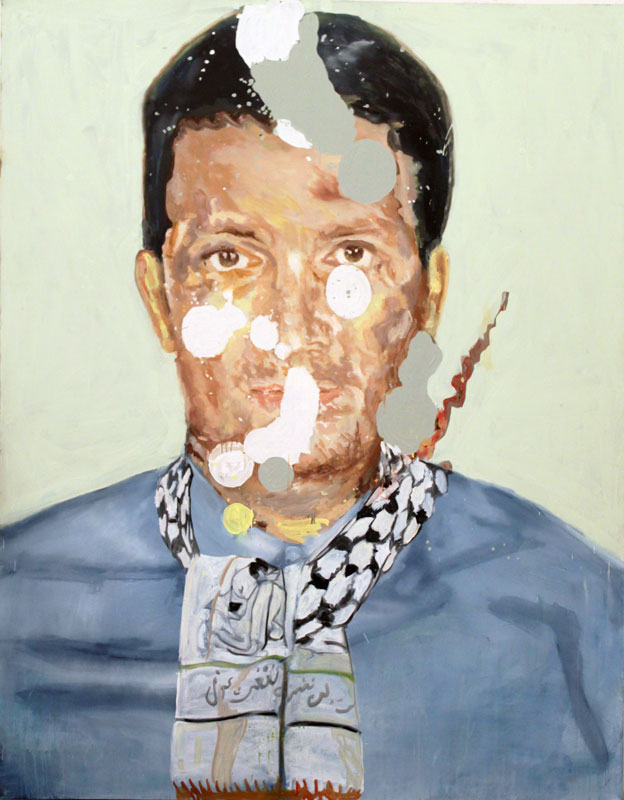 You Can Take a Man Out of Palestine, But You Cannot Take Palestine Out of a Man  (2010)  Oil on canvas  230 * 180 cm