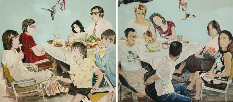 Wrong Chair  (2010)  Oil on canvas  Diptych  230 * 260 cm (Each)