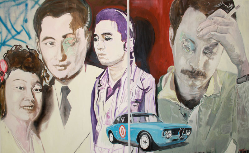 Last Cigarette  (2010)  Oil on canvas  Diptych  230 * 180 cm (Each)