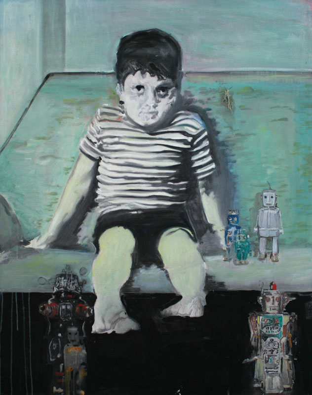 Robots Ready  (2010)  Oil on canvas  139 * 109 cm