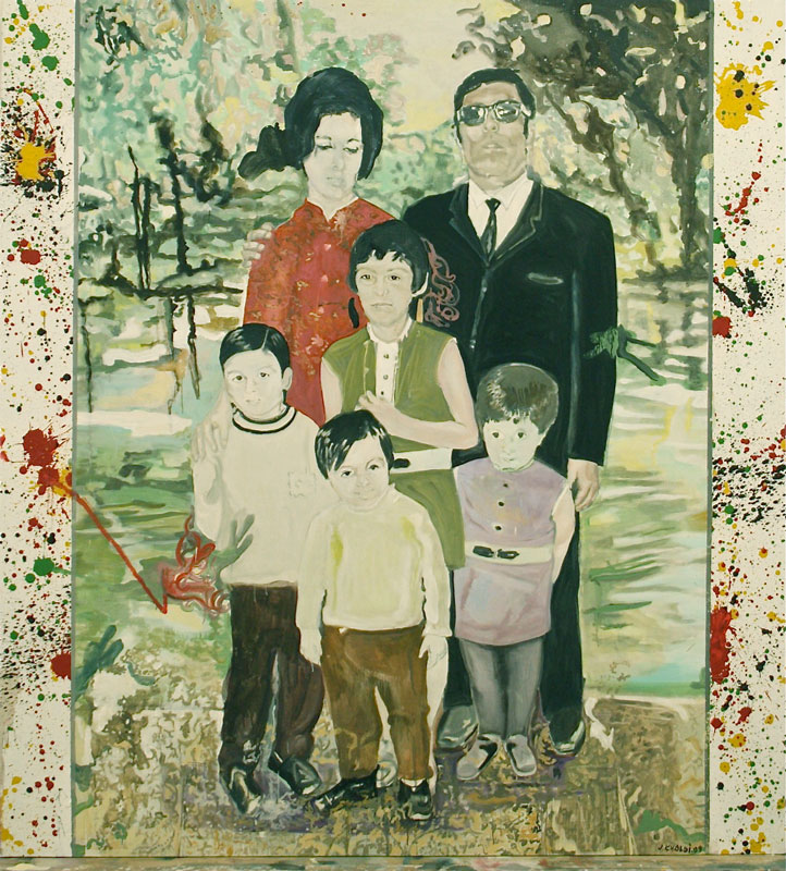 Middle Class Palestinian Family  (2010)  Oil on canvas  220 * 240 cm