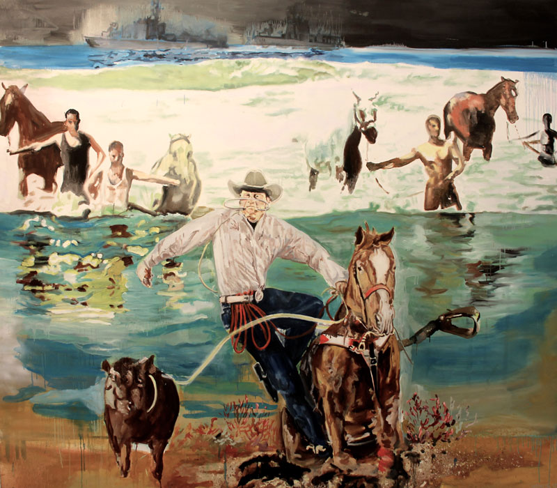 Horse People Are Horse People  (2010)  Oil on canvas  230 * 260 cm