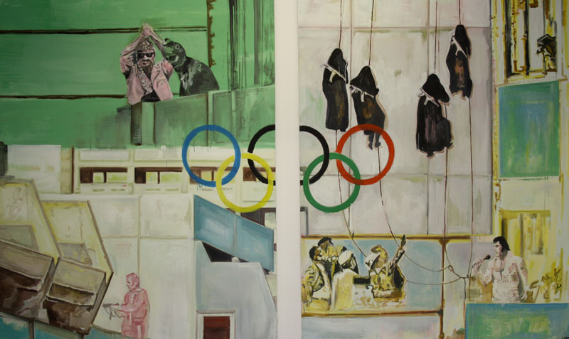 Munich Glamour  (2010)  Oil on canvas  Diptych  230 * 280 cm (Each)