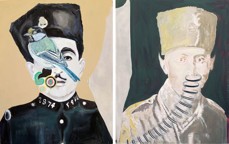 '2974'  (2010)  Oil on canvas  Diptych  230 * 180 cm (Each)