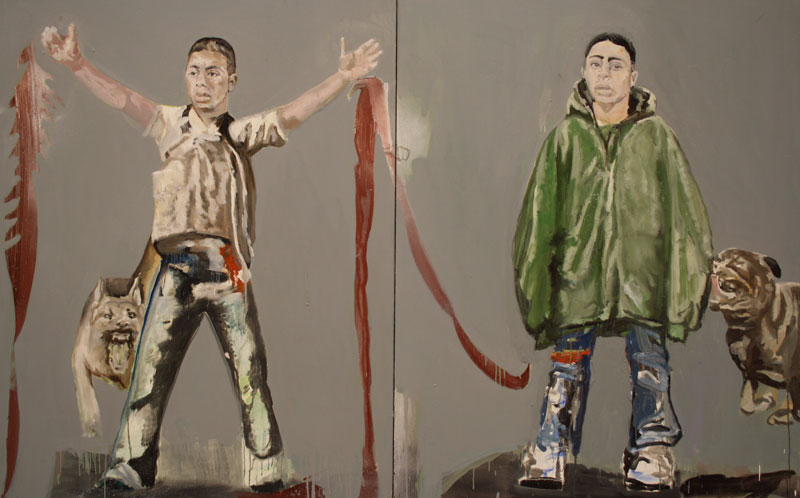 Bell Bottom  (2010)  Oil on canvas  Diptych  135 * 106 cm (Each)