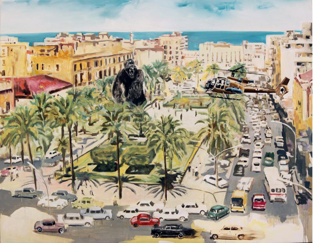 Jaffar Khaldi, 'Beirut Glamour' (01),Oil on canvas, 180 x 230 cm , 2010.JPG