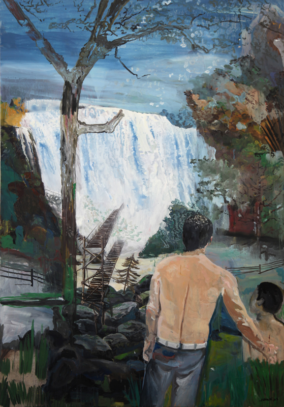 Bahir Dar  (2007-09)  Oil on canvas  300 * 200 cm