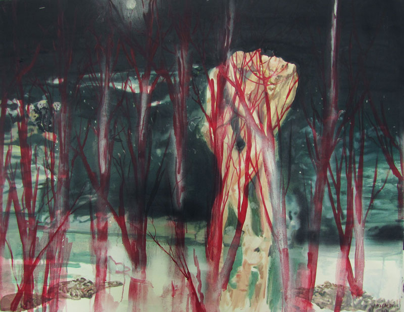 Untitled  (2009)  Oil on canvas  105 * 135 cm