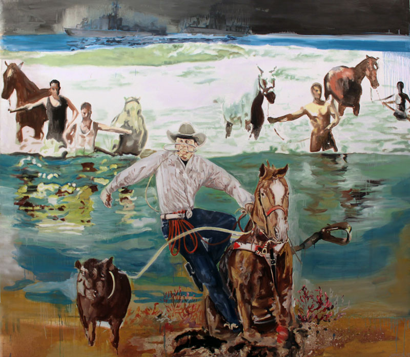 Horse People are Horse People  (2011)  Oil on canvas  230 * 260 cm