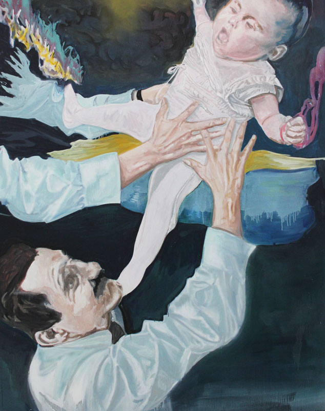 Uncle and Niece  (2011)  Oil on canvas  230 * 180 cm