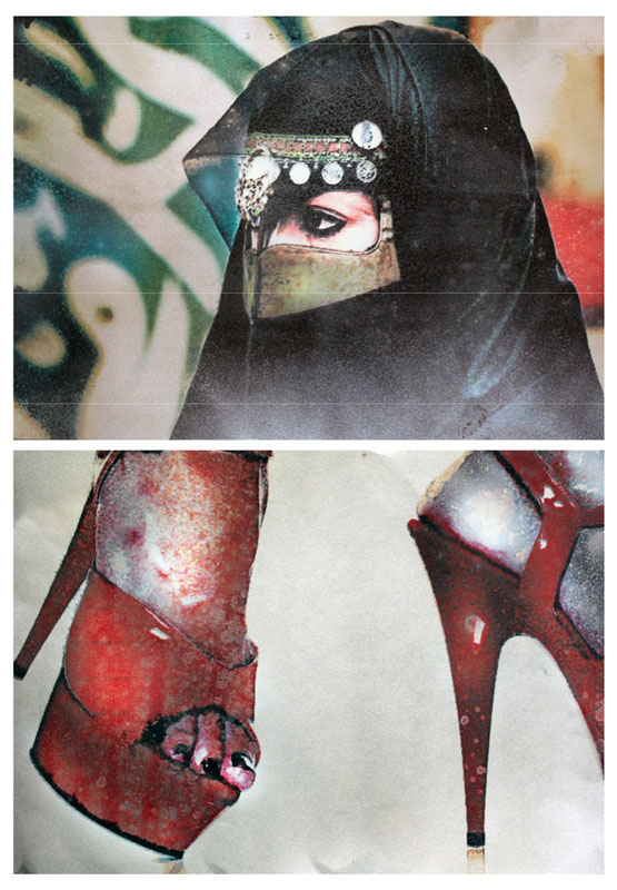 Happy Feet 2  (2011)  Mixed media on paper  Diptych  29.5 * 42 cm each