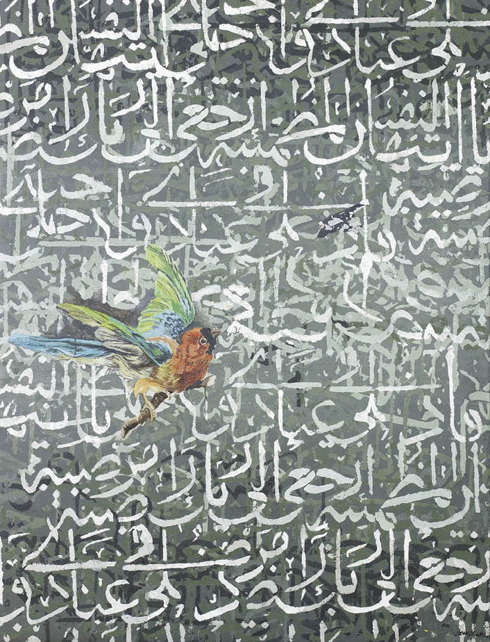 Birds Verse  (2008)  Acrylic on canvas  193 * 152 cm