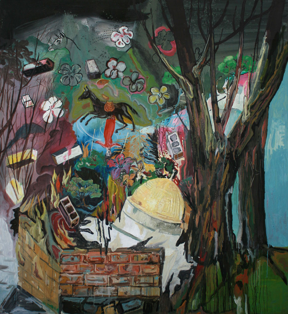 State of Wishful Thinking  (2008-09)  Oil on canvas  220 * 240 cm