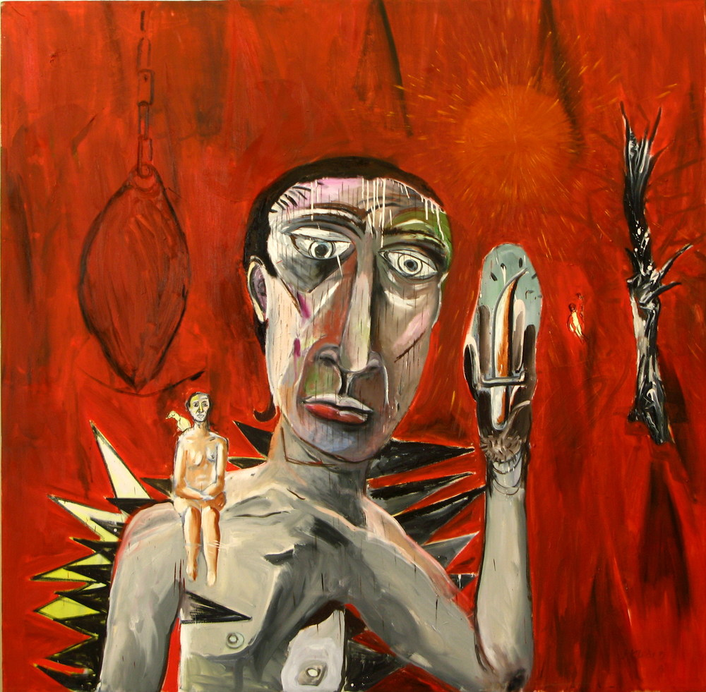Self Portrait  (2007)  Oil on canvas  220 * 230 cm