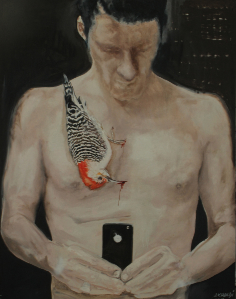 The Pain of Confession, The Confession of Pain  (2013-14)  Oil on canvas    230 * 180 cm