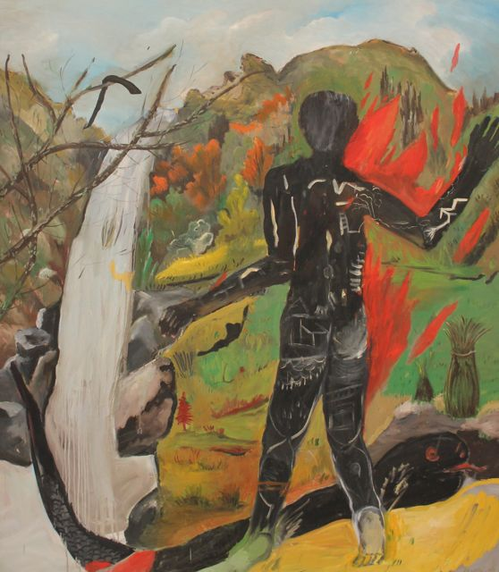 Burning Man  (2007)  Oil on canvas  210 * 180 cm