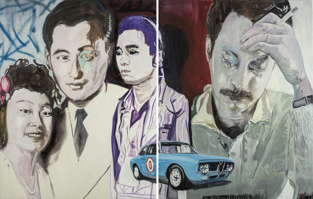 Last Cigarette (2010), Oil on canvas, Diptych, 230 * 180 cm (Each).jpg
