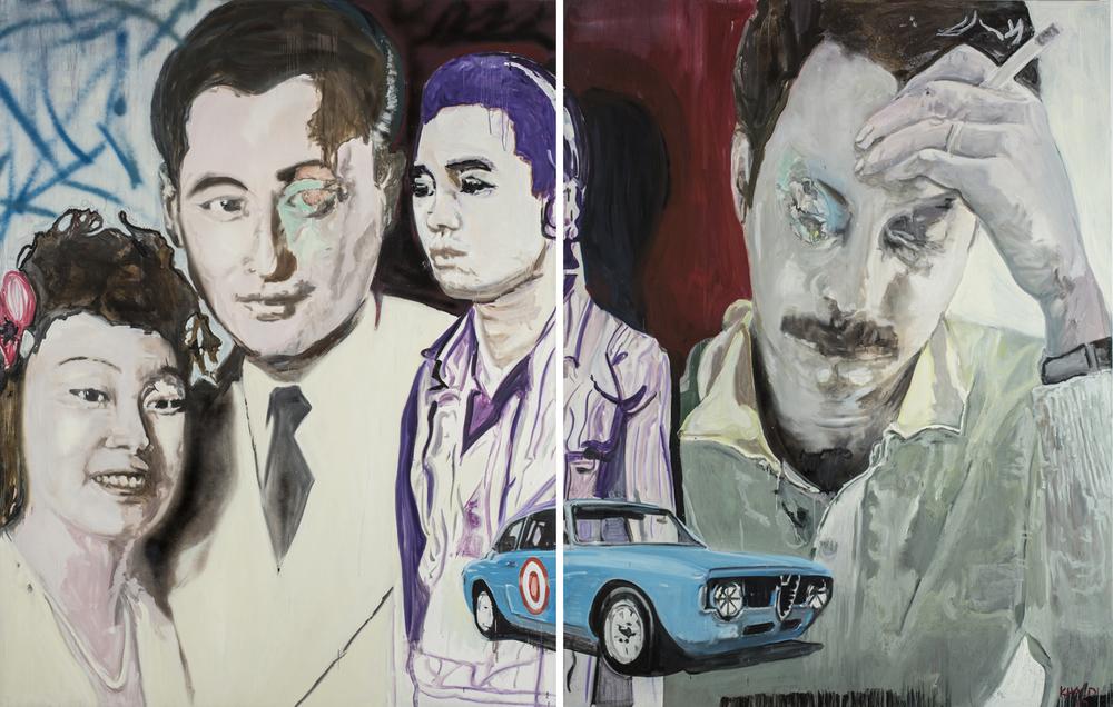 Last Cigarette (2010), Oil on canvas, Diptych, 230 * 180 cm (Each).jpg
