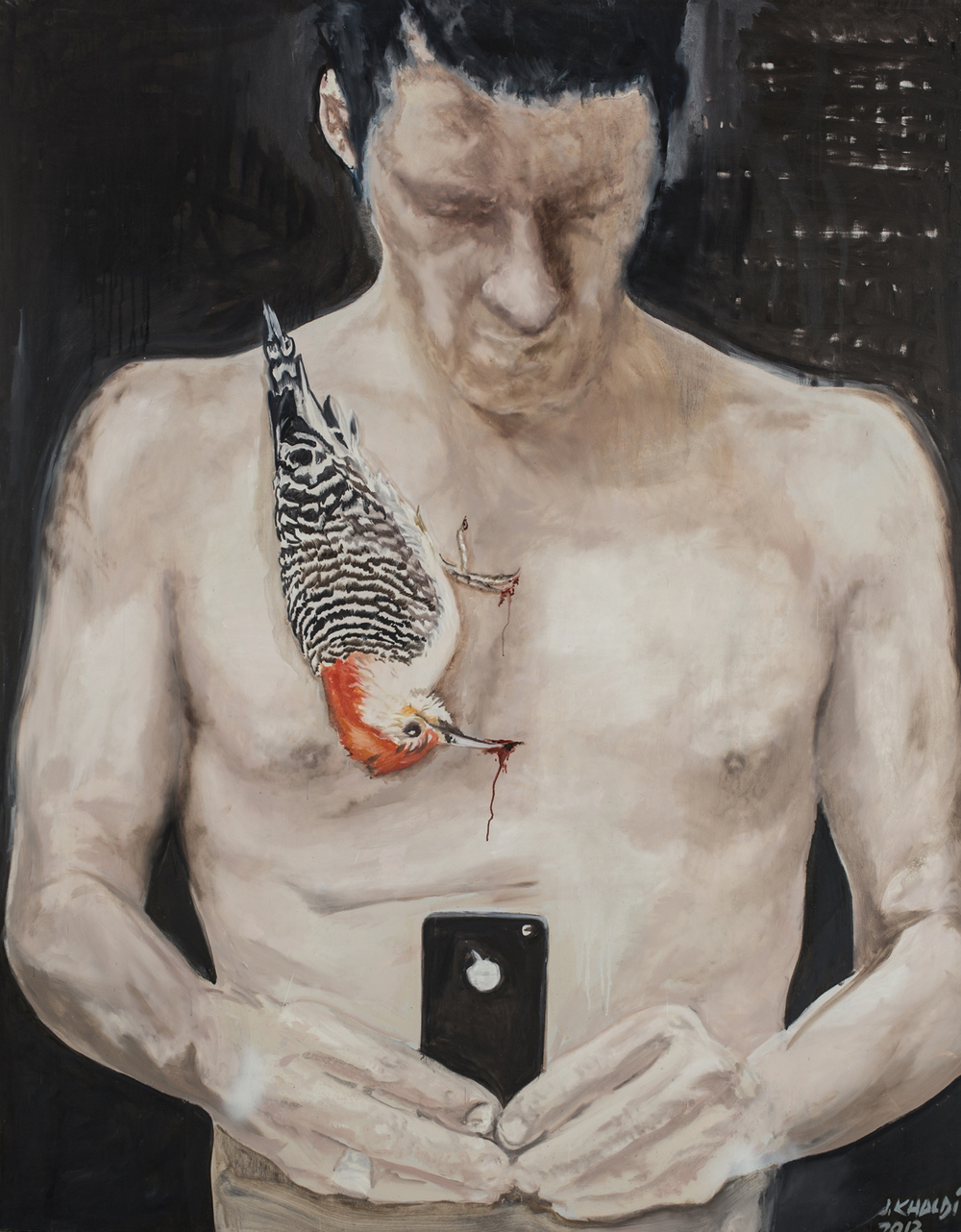 The Pain of Confession, The Confession of Pain (2013-14), Oil on canvas, 230 * 180 cm.jpg