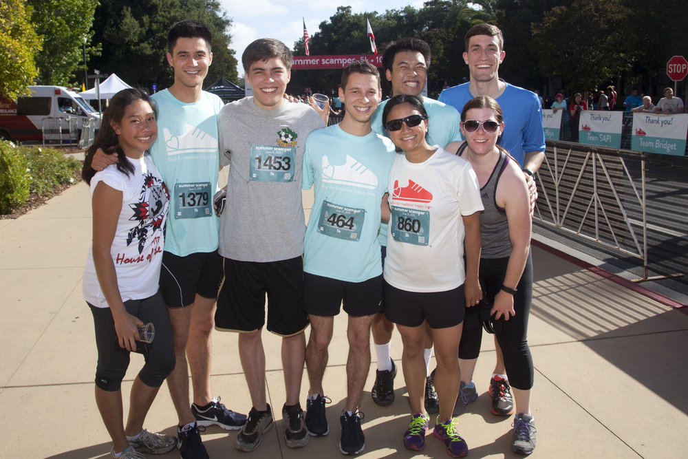Summer Scamper 5K 2015.  Alexis, Anthony (friend of the lab), Alex, Gio, Leslie, Pin-Joe, Amy & Zintis representing the Dixon lab!