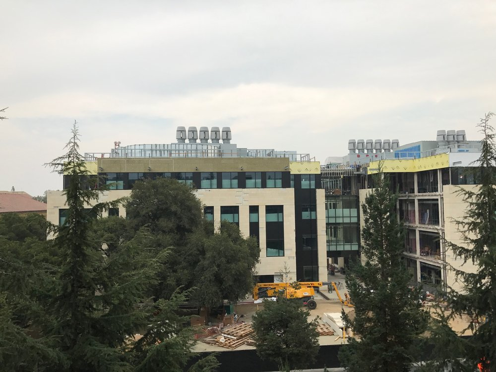 Construction continues on our future home, the BBB (Bass Biology Building). Projected occupation in August 2018! - Stanford campus, 1 Sep 2017