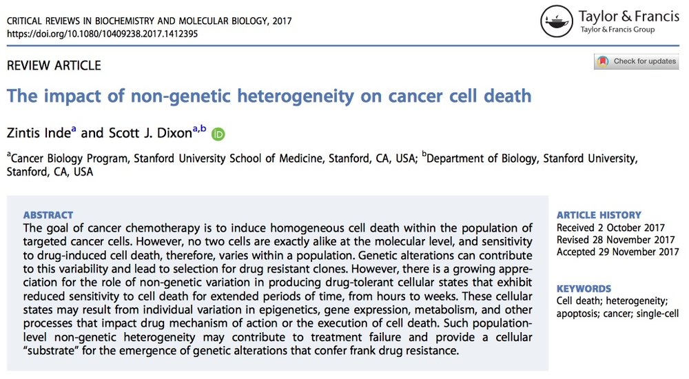 Our review on cell death is published! Congrats to Zintis! - 18 Dec 17