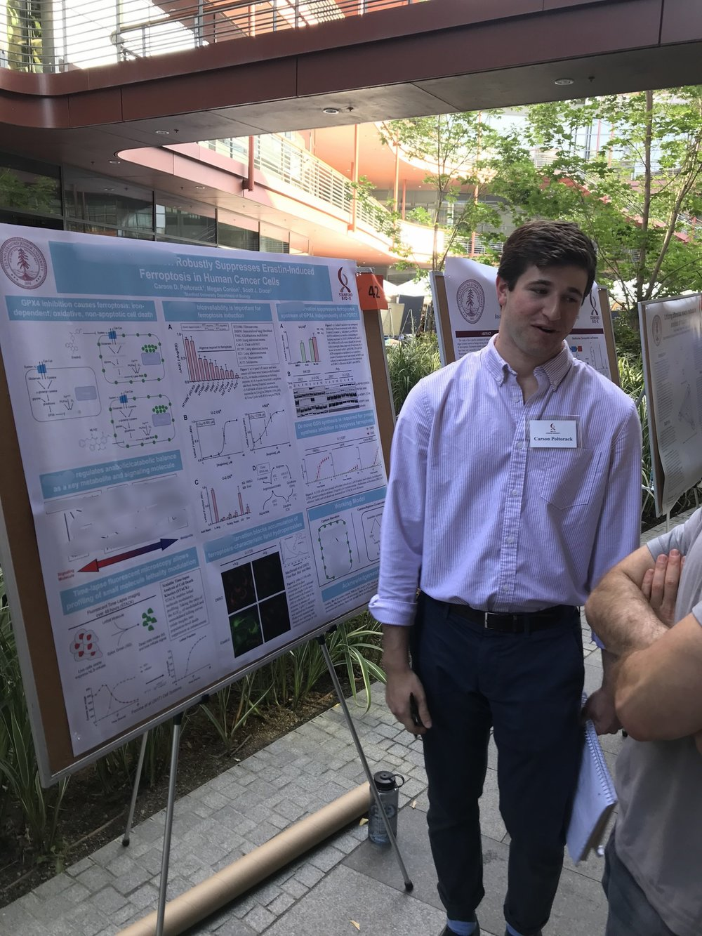 Carson presents his work at the Bio-X summer symposium - 22 August 2018