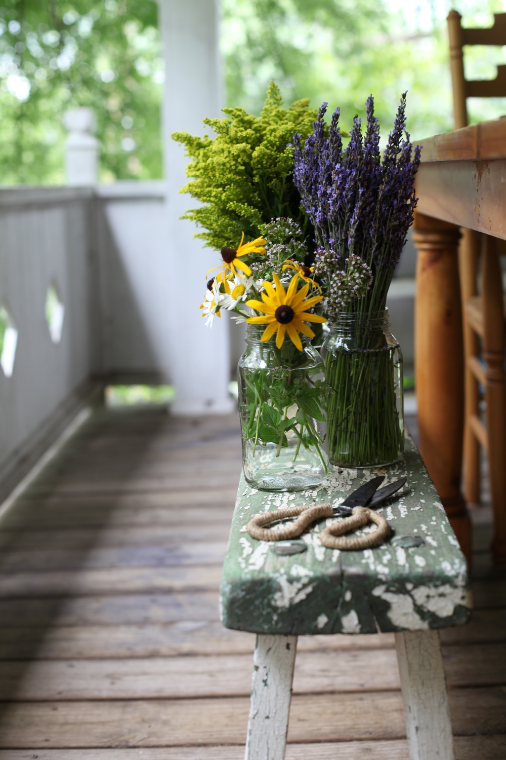 Floral assembly from the home garden
