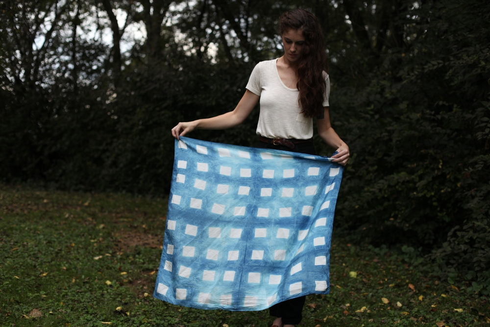 Picnic scarf by inks+thread