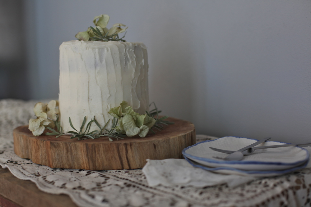 Earl Grey + Lemon Zest Cake with Vanilla Buttercream