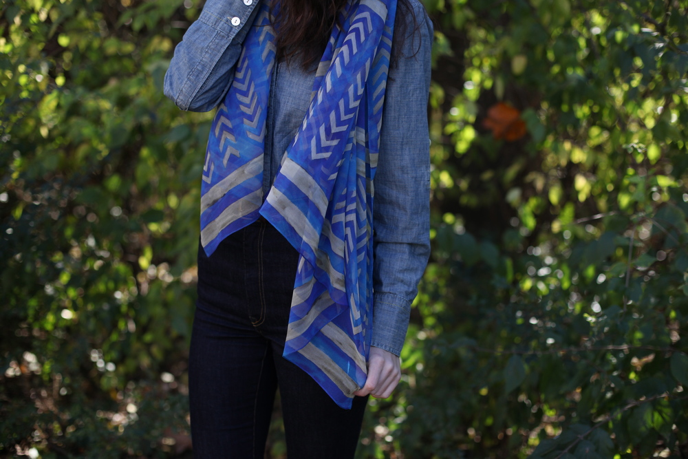 Thunderbird Tracks Scarf by inks+thread
