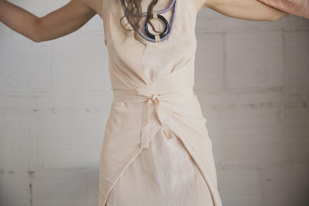 Peach Truss Dress