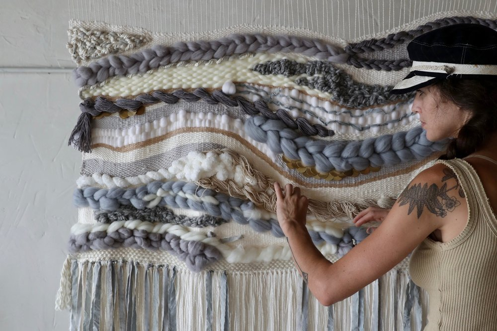 Mist & Fog: Weaving using Black Beans & Expired Coffee as Dye Material