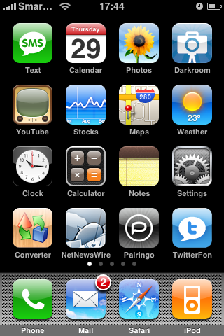 iPhone Home Page