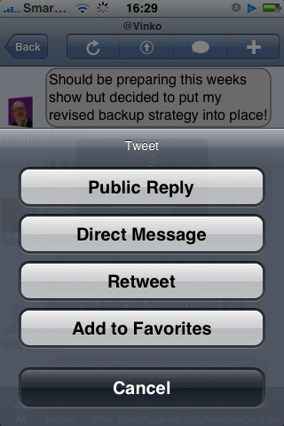 TweetStack Tweet Settings