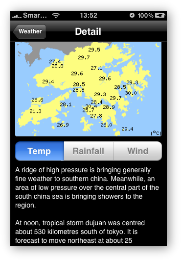 HK Weather - Detailed Weather