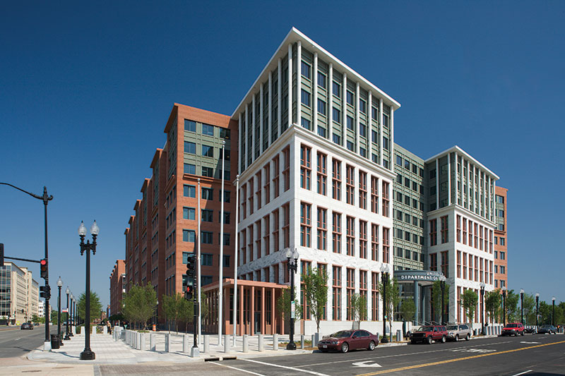 The U.S. Department of Transportation used a build-to-suit lease structure for their 1.5 million square foot Washington, DC Headquarters, built in 2008.
