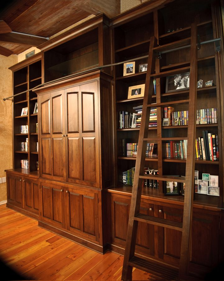 Walnut Library Wall Unit