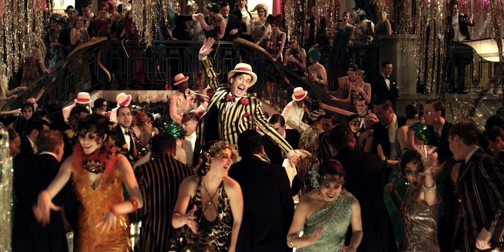 A lot of pomp and circumstance: one of the movie's many extravagant parties
