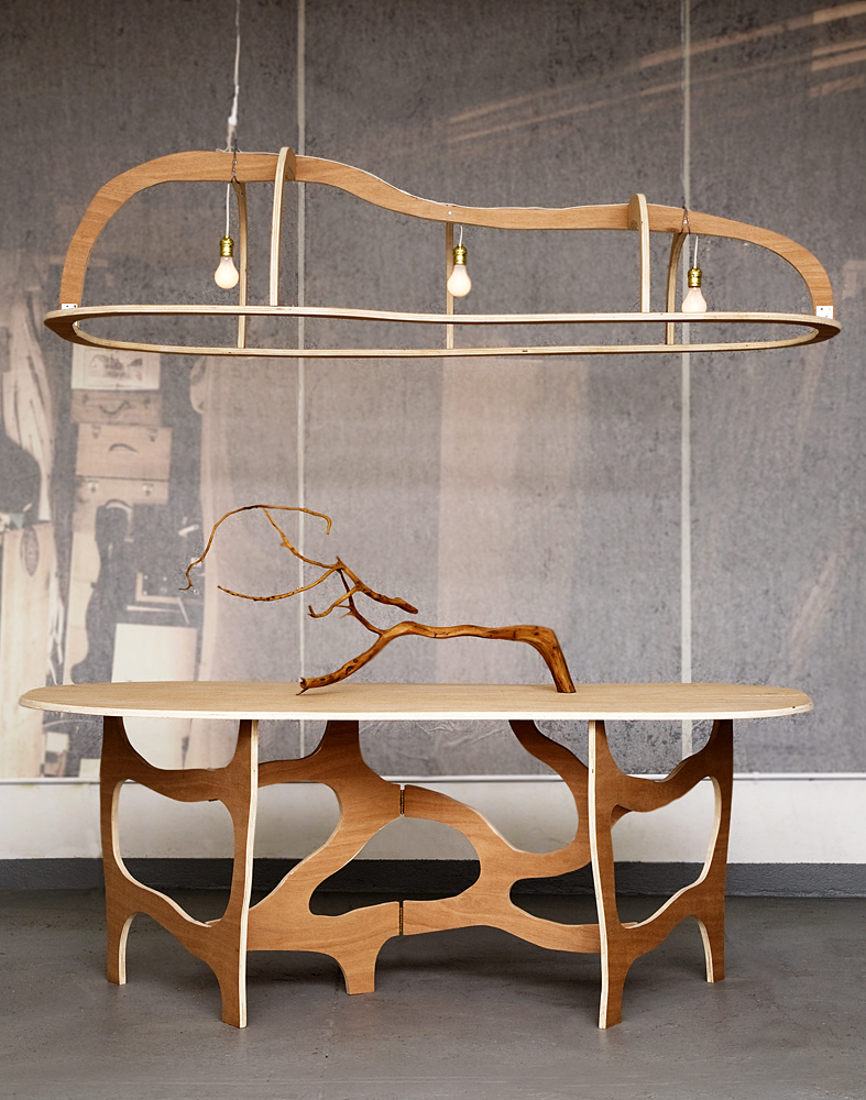 Dining Table / Console and Suspension by Jacques Jarrige