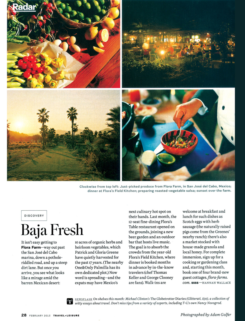 Travel + Leisure / February 2013 / Article