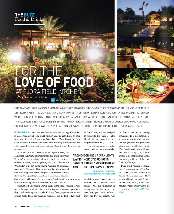 Cabo Social Magazine May 2011 Flora Farm Article.png